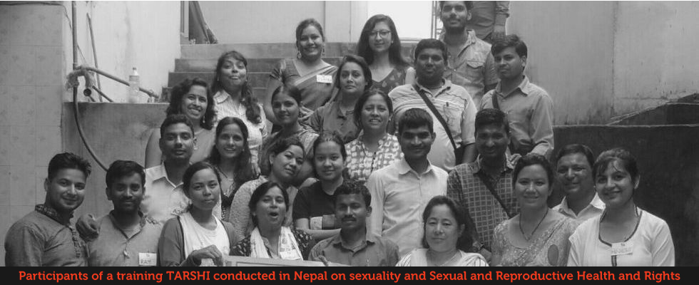 Participants of a training TARSHI conducted in Nepal on sexuality and sexual and reproductive health and rights